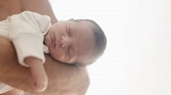 foto bebe y padre