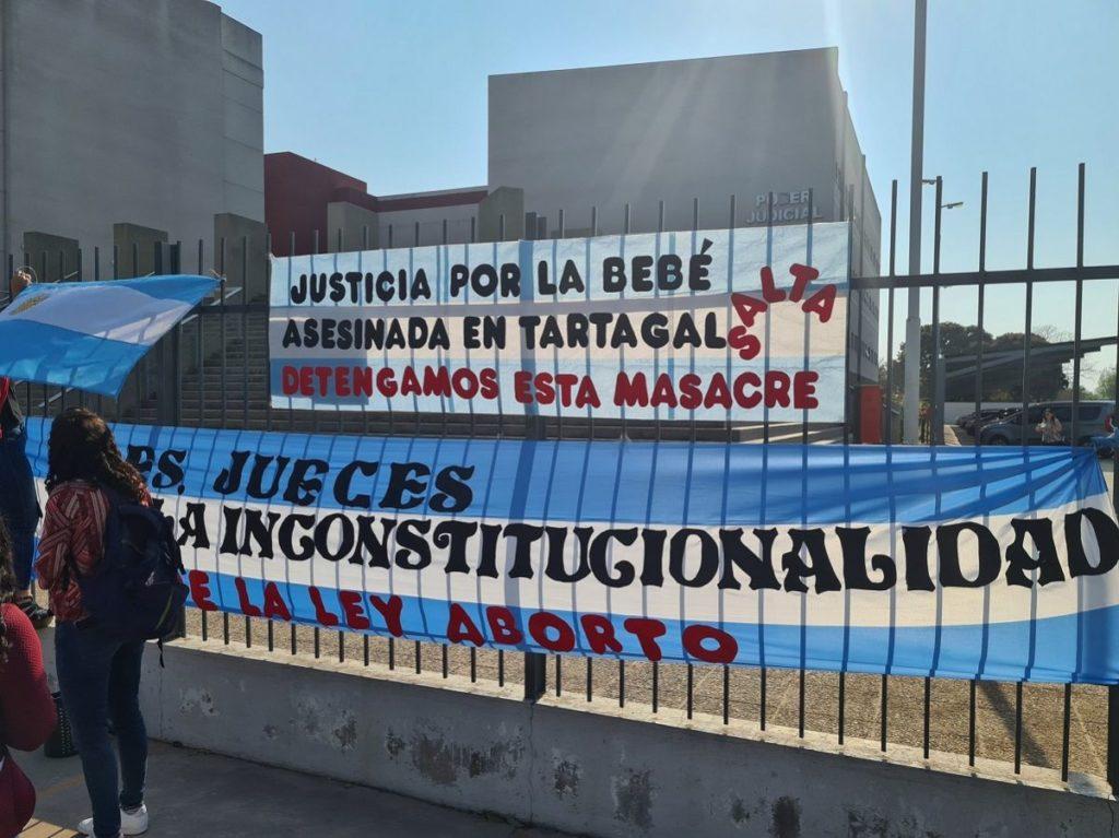 Grupo provida defiende a la bebé de 6 meses de gestación que murió asesinada en Tartagal
